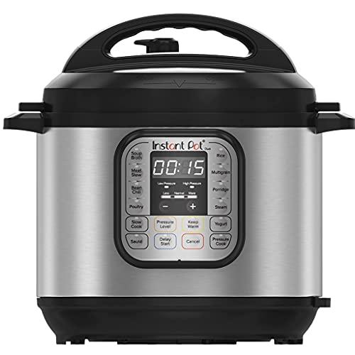 Instant Pot Duo 7-in-1 Electric Pressure Cooker, Slow Cooker, Rice Cooker, Steamer, Sauté, Yogurt Maker, Warmer & Sterilizer, 6 Quart, Stainless Steel/Black