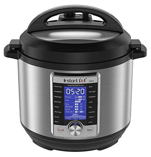 Instant Pot Ultra 60 Ultra 6 Qt 10-in-1 Multi- Use Programmable Pressure Cooker, Slow Cooker, Rice Cooker, Yogurt Maker, Cake Maker, Egg Cooker, Sauté, and more, Stainless Steel/Black